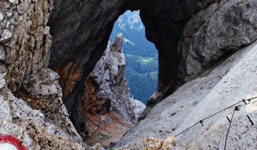 Alpy Julijskie – Prisojnik Okno
