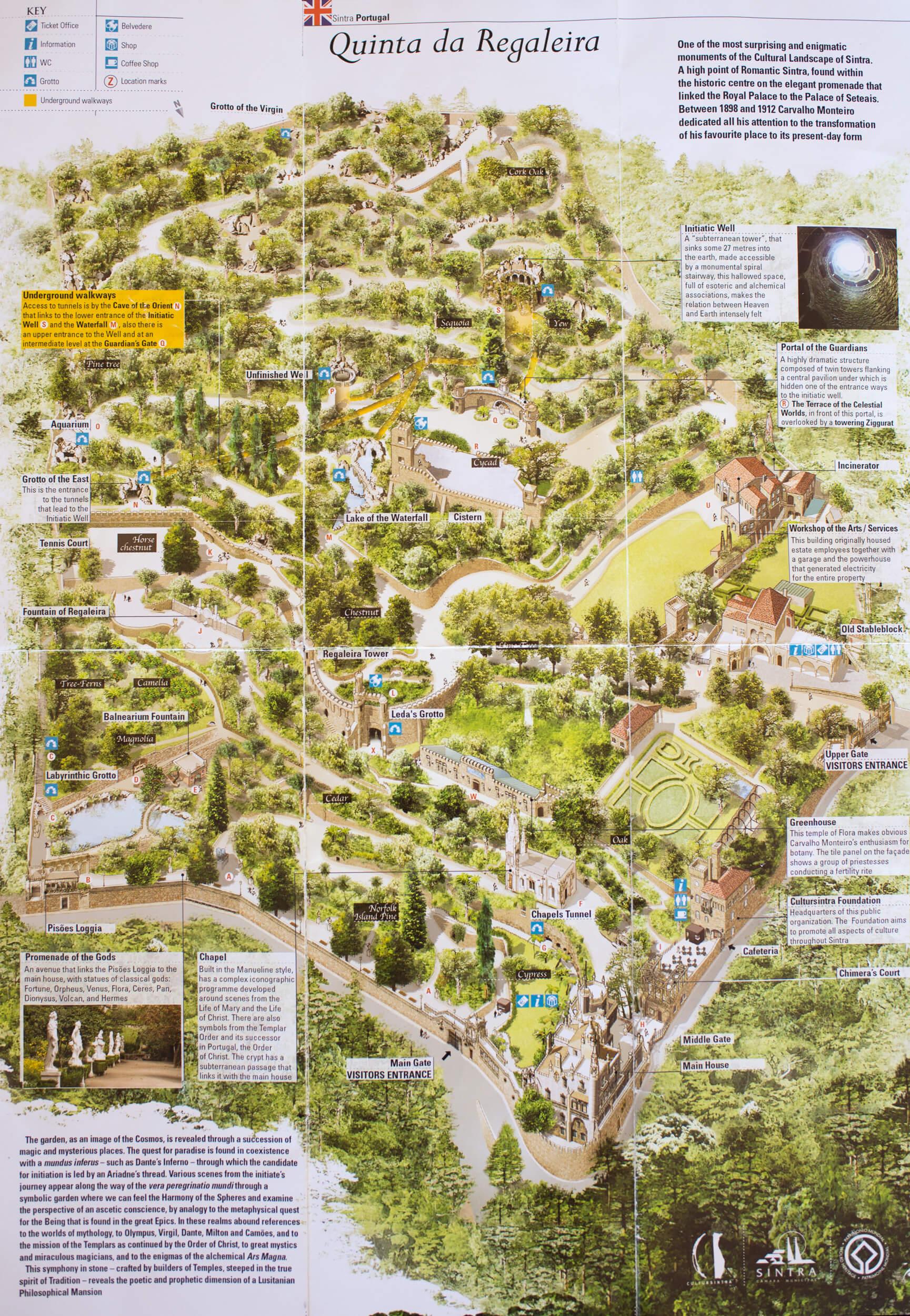 quinta da regaleira mapa Mityczny mistycyzm   Quinta da Regaleira, Sintra   Duże Podróże quinta da regaleira mapa