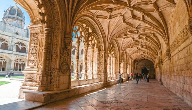 Cudowny klasztor Hieronimitów (Jeronimos) w Lizbonie