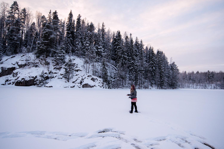 finlandia zamarzniete jezioro