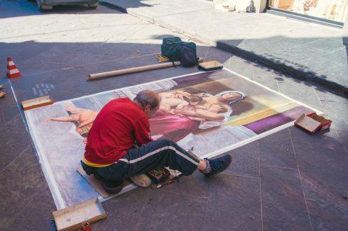 malarz na ulicy florencja