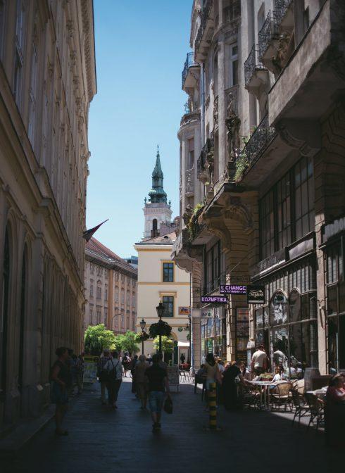 ulica w budapeszcie
