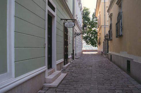uliczka w budapeszcie