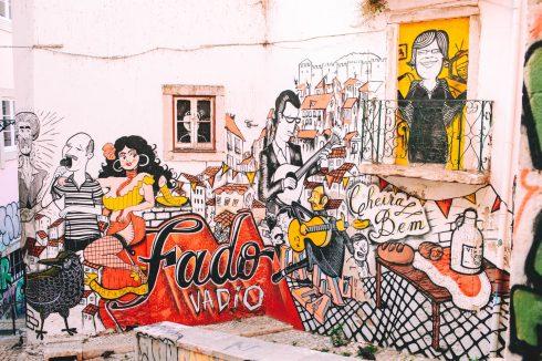 sztuka uliczna w Lizbonie