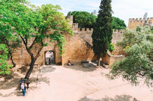 zamek świętego Jerzego w Lizbonie