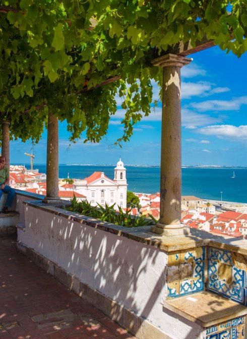 miradouro de Santa Luzia Lisbon