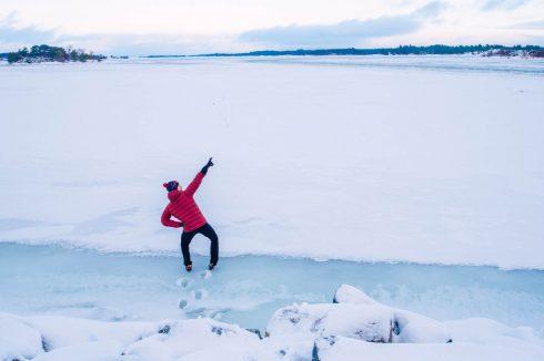 ciekawy szczegół w fotografii zimowej