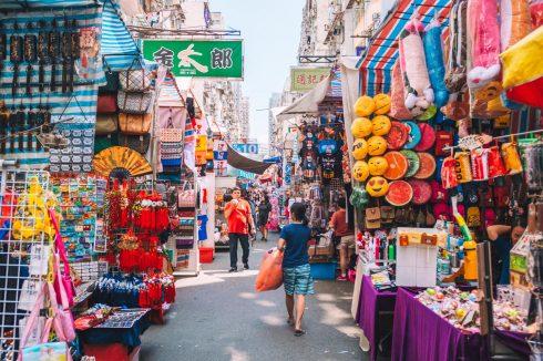 ladies market w hong kongu
